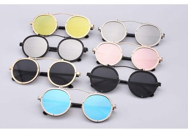 Single Curve Bridge Steampunk Sunglasses