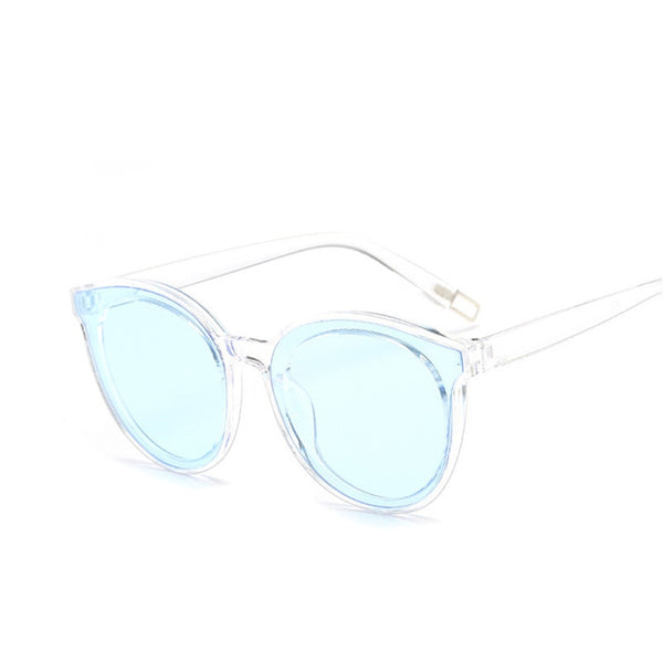 colour luxury top fashion cat eye glasses sunglasses women brand designer blue sea sun glasses lady female oculos de sol UV400