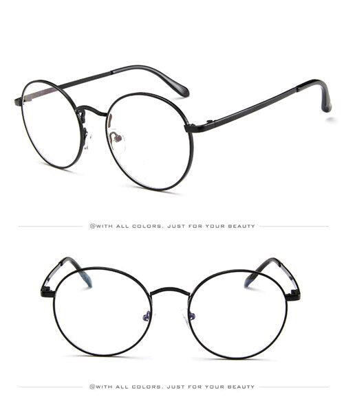 Korean Full Metal Innocent Style Eyeglasses