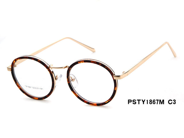 Solid Style Round Eyeglasses