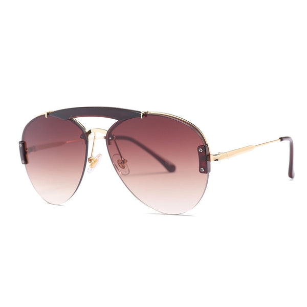 Double Beams Light Weight Aviation Sunglasses