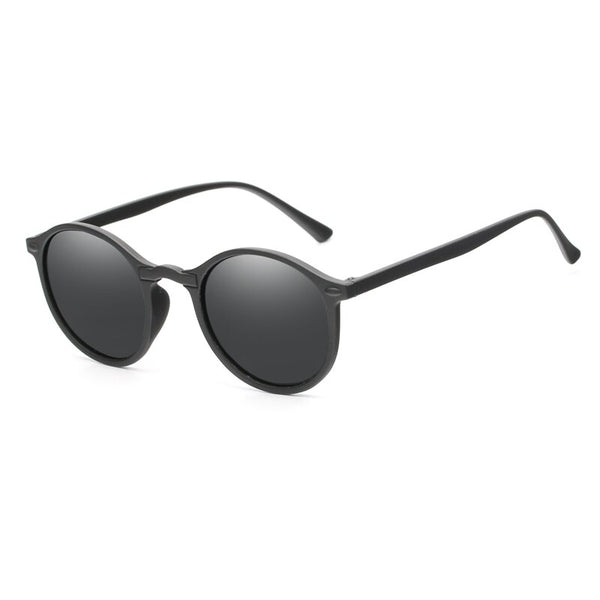 2019 Cool Women Polarized Round Sunglasses (Black Grey)