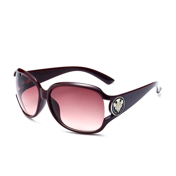 Ring Mark Temple Oversize Sunglasses