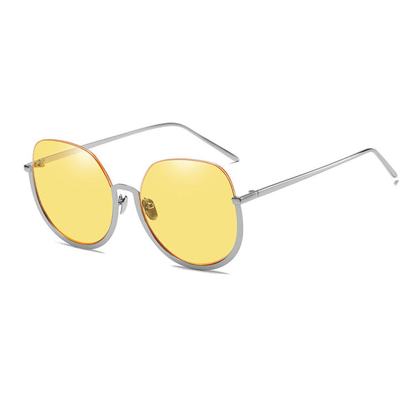 Lower Half Semi Rimless Women Sunglasses