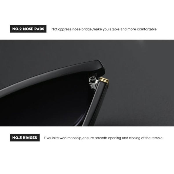 Avant Garde Thin Flat Sunglasses - Sunglasses