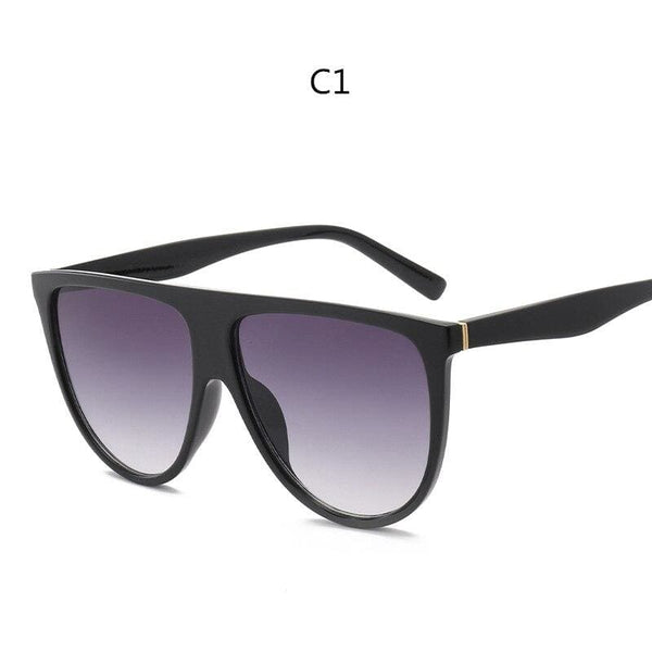 Avant Garde Thin Flat Sunglasses - C1 - Sunglasses