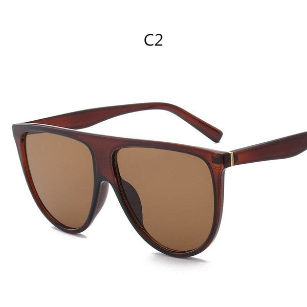 Avant Garde Thin Flat Sunglasses - C2 - Sunglasses