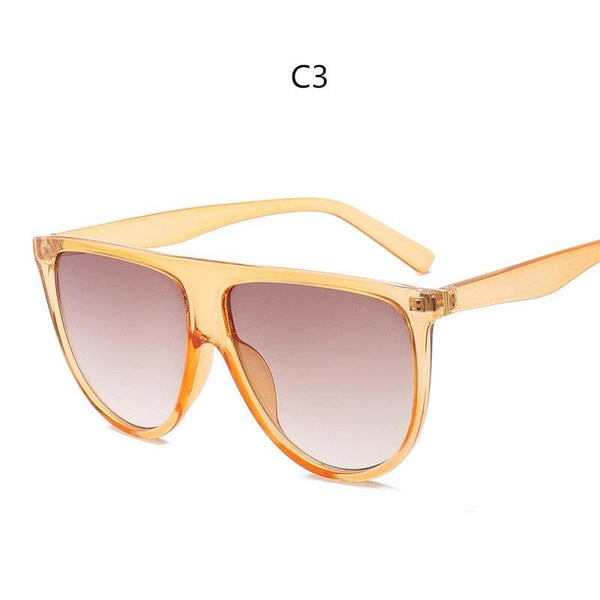 Avant Garde Thin Flat Sunglasses - C3 - Sunglasses