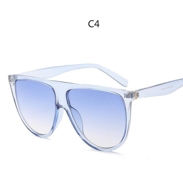 Avant Garde Thin Flat Sunglasses - C4 - Sunglasses