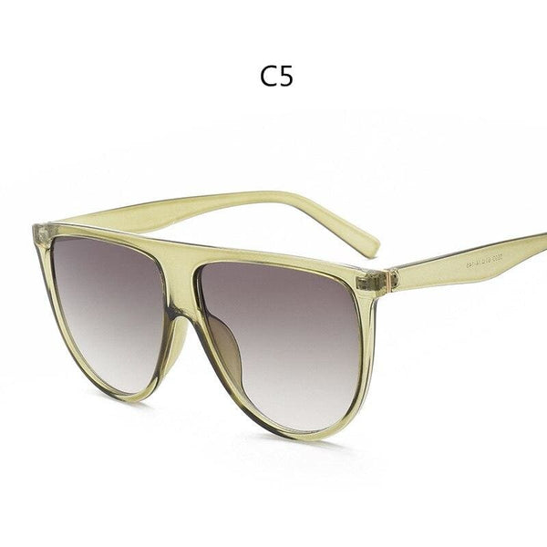 Avant Garde Thin Flat Sunglasses - C5 - Sunglasses