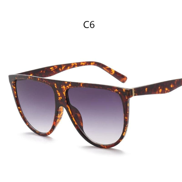 Avant Garde Thin Flat Sunglasses - C6 - Sunglasses