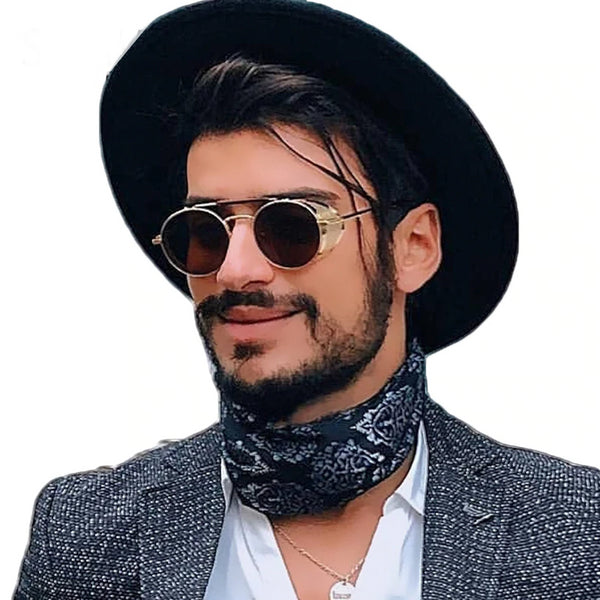 Cowboy Hipster Steampunk Sunglasses