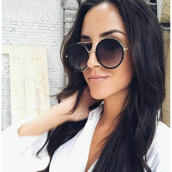 Elegant Oversized Double Beam Sunglasses - Sunglasses