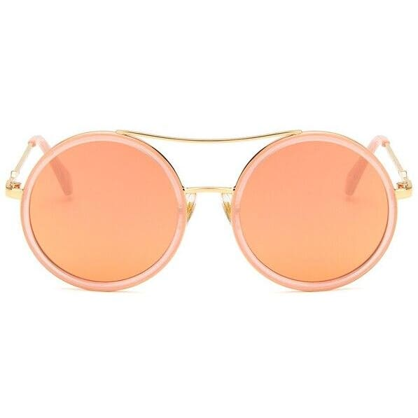Elegant Oversized Double Beam Sunglasses - pink - Sunglasses