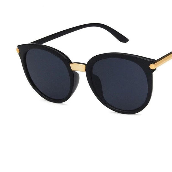 Ladies Chic Fashion Square Sunglasses - C1FullBlack - Sunglasses