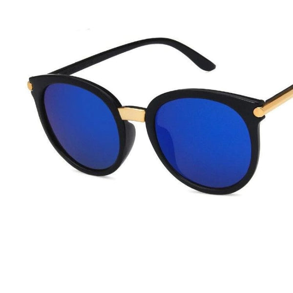 Ladies Chic Fashion Square Sunglasses - C3Blue - Sunglasses