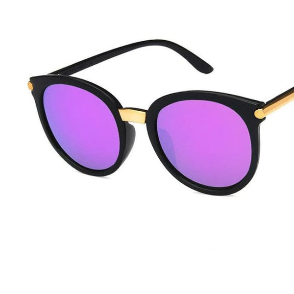 Ladies Chic Fashion Square Sunglasses - C5Purple - Sunglasses