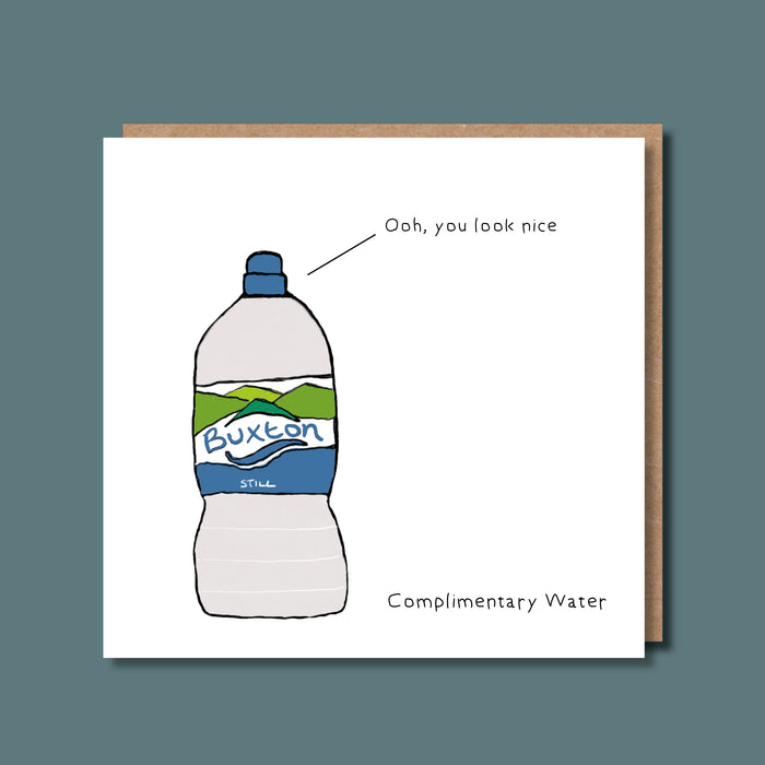 Complimentary Water Greetings Card