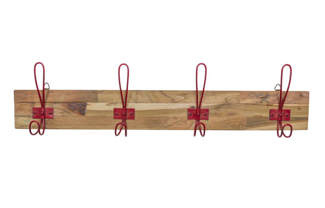 EKO Mango 4 Coat Hooks - Red