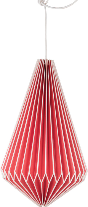 Lampshade Red Teardrop