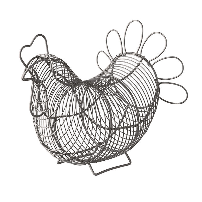 Chicken Egg Basket - Grey