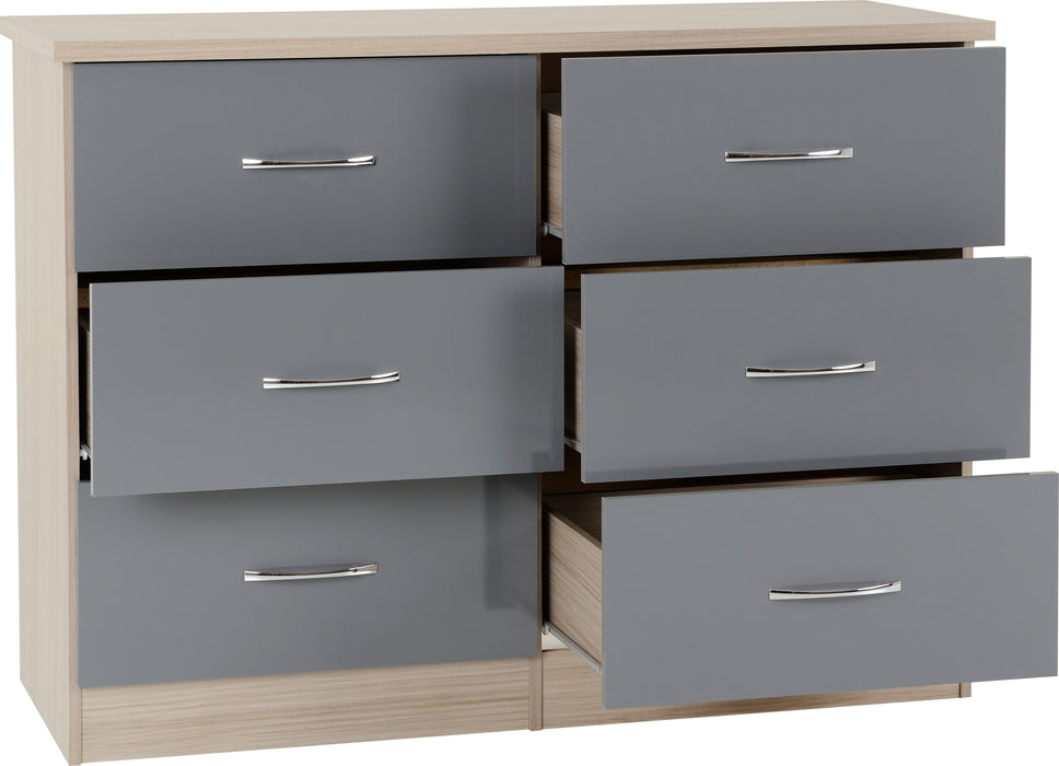 Skyline Grey 6 Drawer Chest