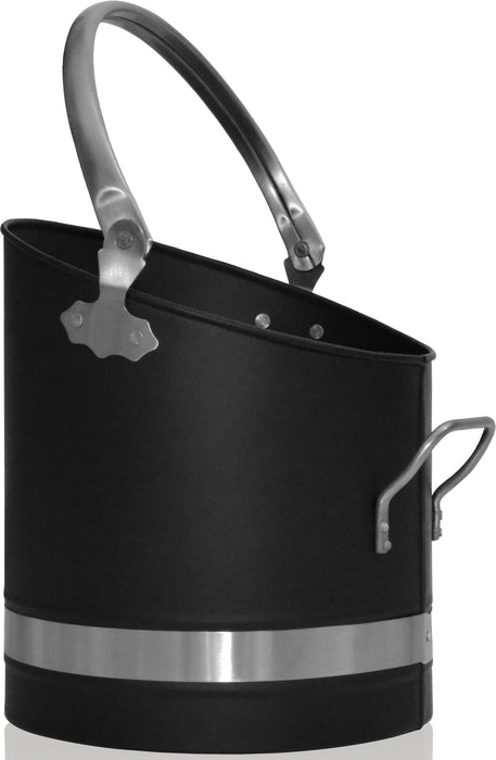 Black & Pewter Coal Bucket
