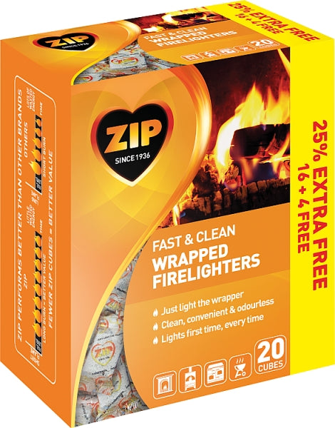 ZIP Firelighters Fast N Clean