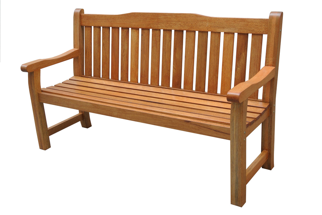 Carron 3 Seater Oak Bench