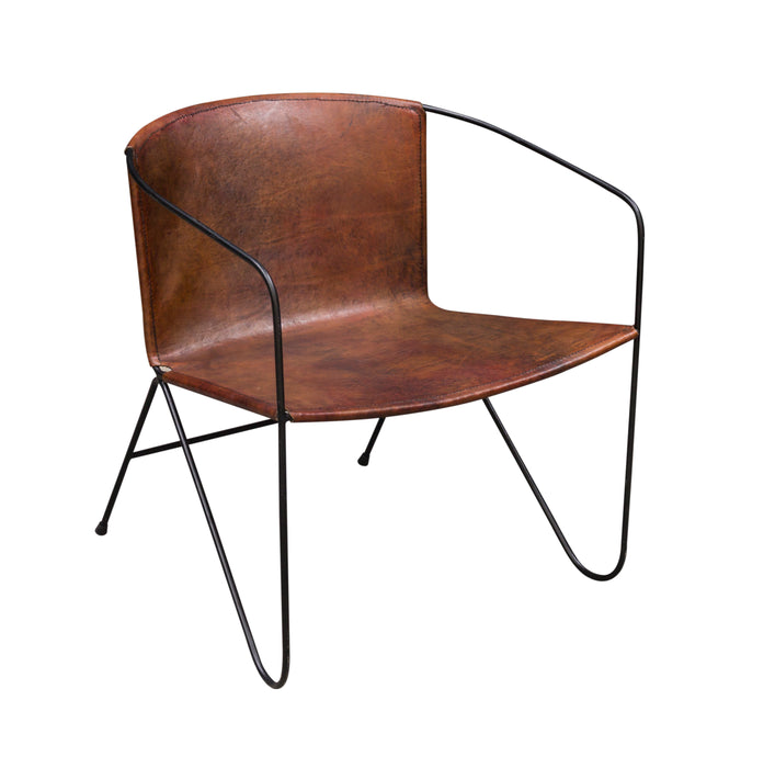WILLIAM Leather Lazy Chair