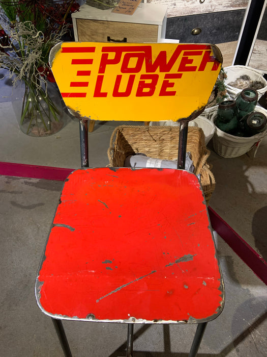 Oil Barrel Upcycled Bar Stool - Power Lube