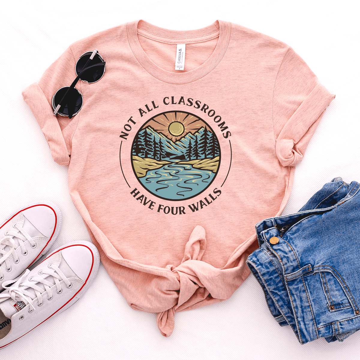 Not All Classrooms Have Four Walls - Bella+Canvas Tee