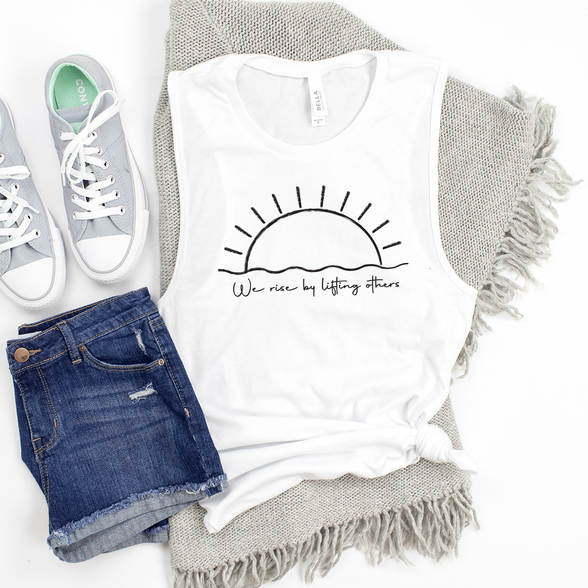 We Rise By Lifting Others - Bella+Canvas Tank Top