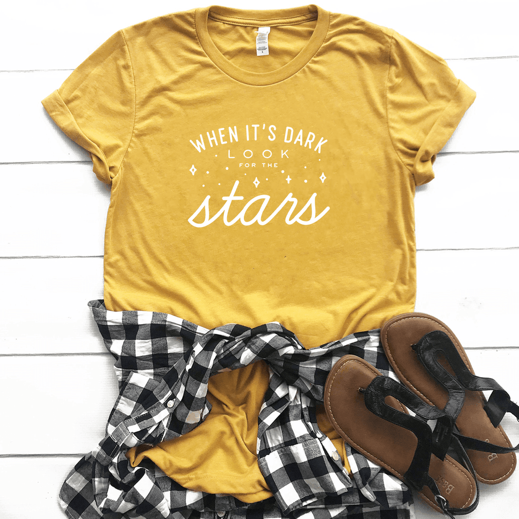 When it's Dark, Look for the Stars - Bella+Canvas Tee