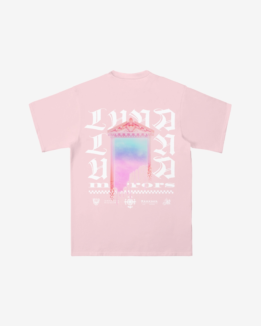 Melting Mirror Light Pink Tee