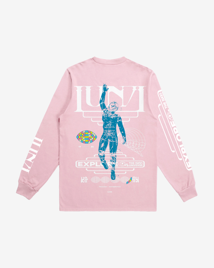 Explore The Universe Pale Pink Long Sleeve