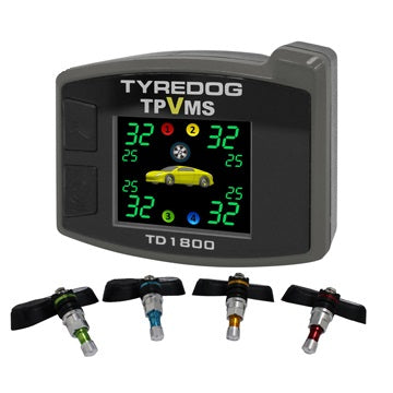 Tyredog TD1800AI (4-Wheel) Internal-Type  Tyre Pressure / Vibration Monitor System