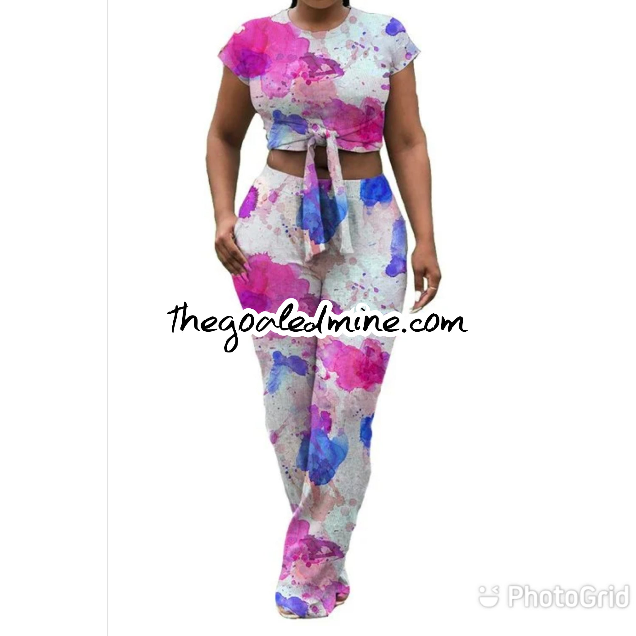 Colorful Tie Dye 2 piece set