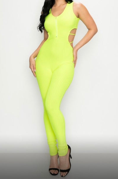 DARE TO BE DIFFERENT Lime Green jumpsuit
