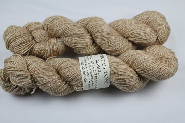 Iconic Trenchcoat Reward 80/20 merino/silk fingering weight sock yarn