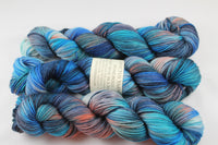 Devil in a Blue Dress Wondrous DK MCN hand dyed yarn
