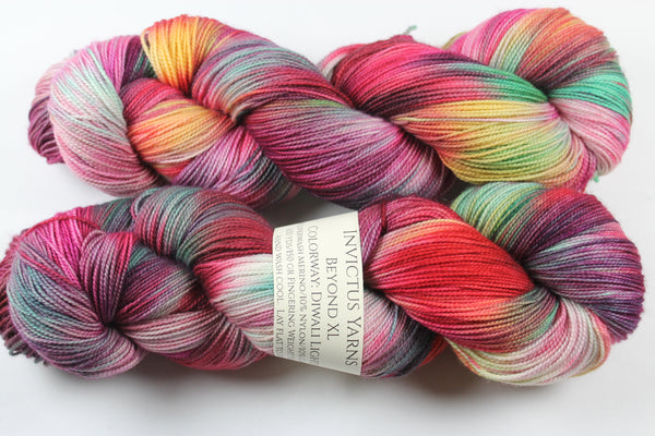 Diwali Lights Beyond XL MCN fingering weight extra length yarn