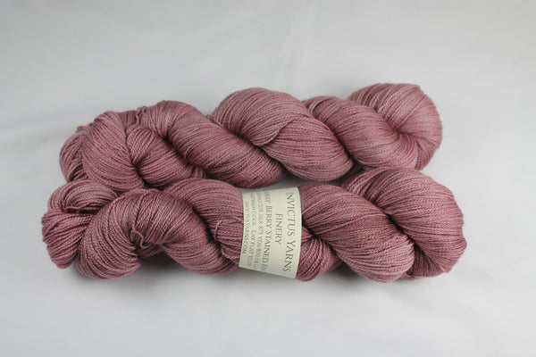 Berry Stained Fingers Finery Laceweight Merino/SilkYarn