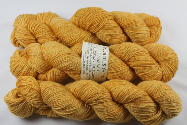 Dubloon Unafraid Superwash Merino/Nylon/Stellina fingering weight shimmer sock yarn