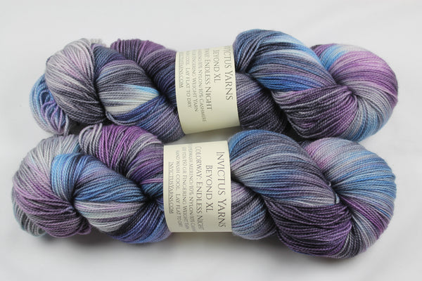 Endless Night Beyond XL MCN fingering weight extra length yarn