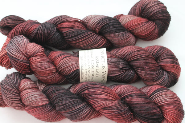 Continual Soiree Assimilate Merino/Yak/Nylon fingering weight yarn