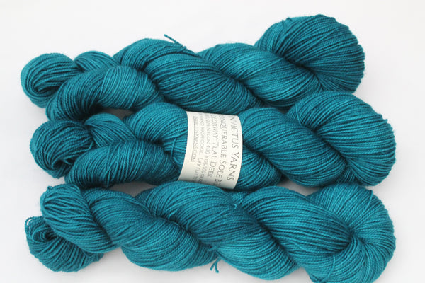 Teal Deer Unconquerable Sole BFL SW BFL/nylon fingering weight sock yarn