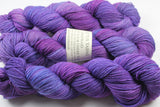 Don't Look Under the Lilacs Unafraid Superwash Merino/Nylon/Stellina fingering weight shimmer sock yarn