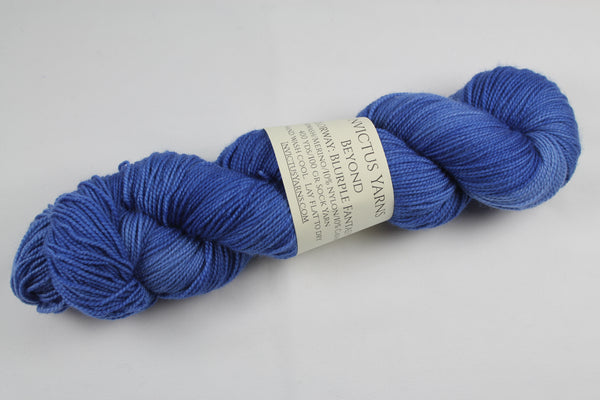 Blurple Fantasy Beyond MCN fingering weight sock yarn