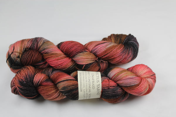 Continual Soiree Unafraid Shimmer fingering weight yarn